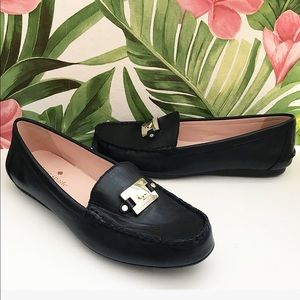 Kate Spade Black Leather Carmen Loafer